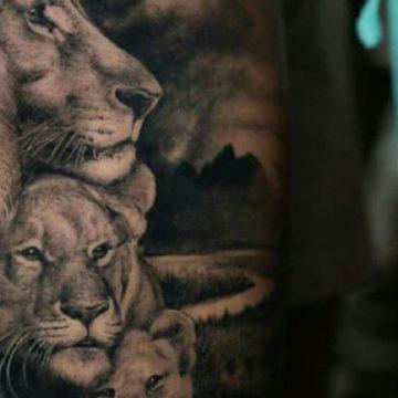 значение тату лев